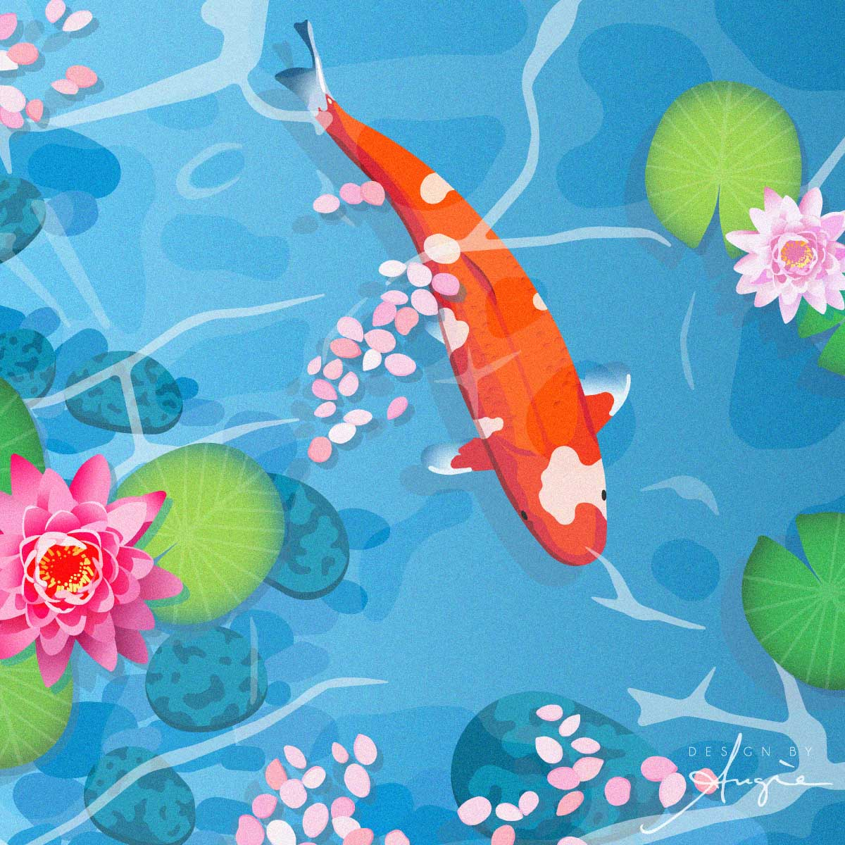 Koi in Water