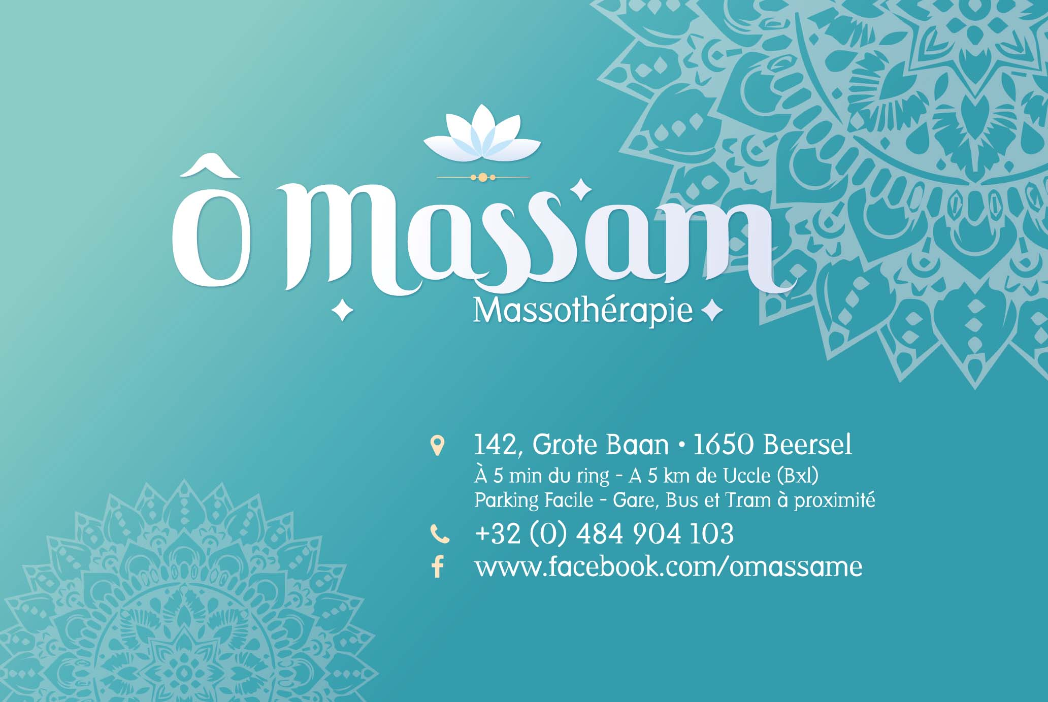 Ô Massam business card