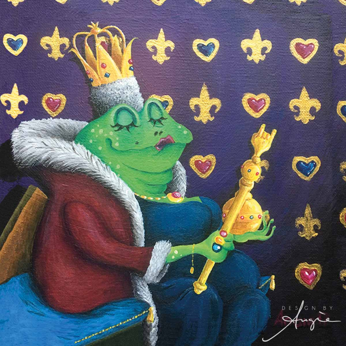 The Frog Queen Acrylic Painting