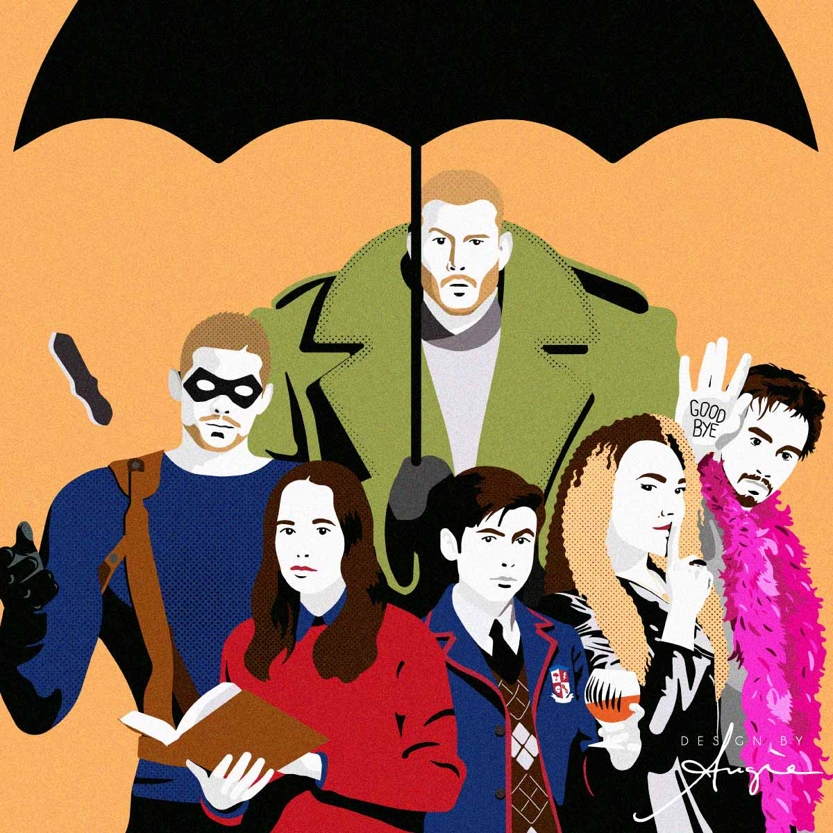 Umbrella Academy tribute illustration